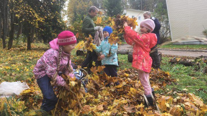 Листья жёлтые над Плёсково кружатся...